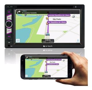 Dvd 2 Din E-tech Player Rca Double Din / Usb / Bluetooth Som