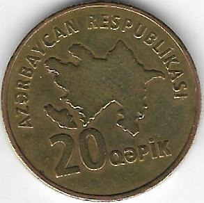 !!! Republica Azerbaijan 20 Qapik 2006 Imperdible !!!!