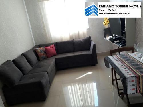 Apartamento Para Venda Em Santo André, Vila Lutecia, 2 Dormitórios, 1 Banheiro, 1 Vaga - 1666_2-718610