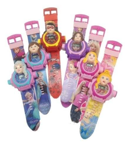 Relógio Projetor Luz Com Slides Princesas Herois