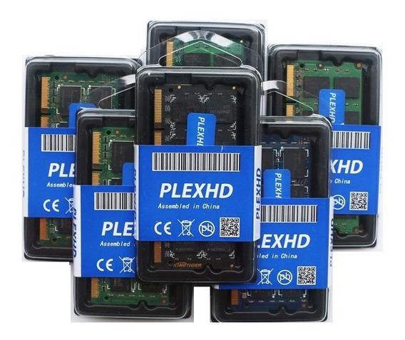 Memória Plexhd Ddr2 2gb 800 Ou 667 Mhz Notebook 16 Chips