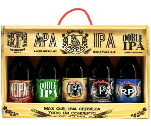 Imagen 1 de 6 de Cerveza Artesanal Barbaroja Estuche Regalo Ipa Familia