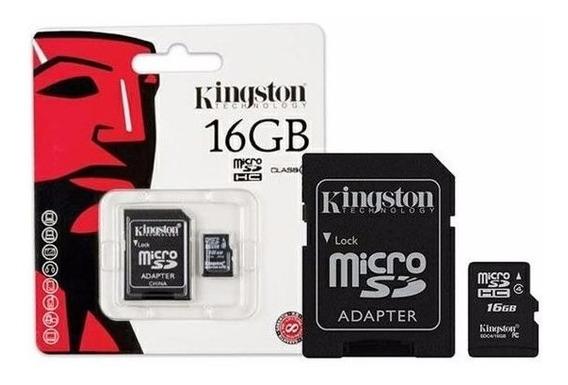 Cartão Memória Micro Sd 16gb Kingston Lacrado Original