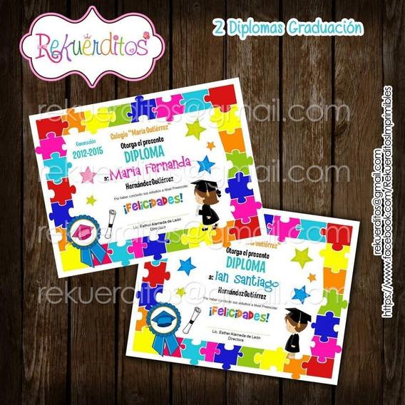 Kit Imprimible Diplomas Egresados Jardin Infantil Kdkt0186