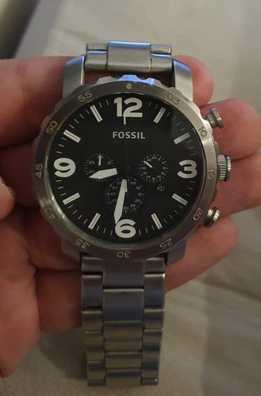 Relógio Fossil Masculino Pulseira Em Aço Inox