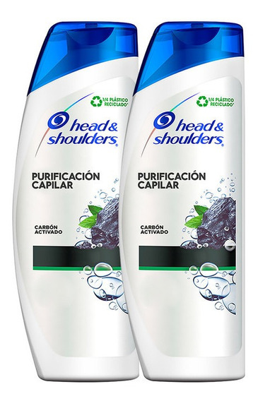 Pack X 2 H&s Carbón Activado Shampoo 375ml