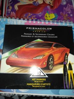 Plumón Y Marcador Prismacolor Premier Tres Cajas De 12 Color
