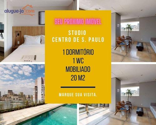 Imagem 1 de 30 de Studio A Venda, Centro De São Paulo, 1 Dorm, Mobiliado, Anhangabaú - St0049