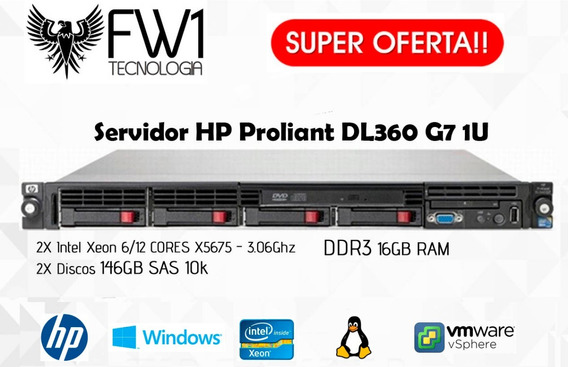 Servidor Hp Proliant Dl360 G7 2 Six Core/ 2 Hds 146gb/ 16gb