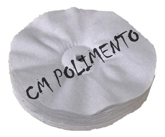 Roda Flanela Solta Lustro 150mm 1 Costura Cd,acrilico,pu,cm