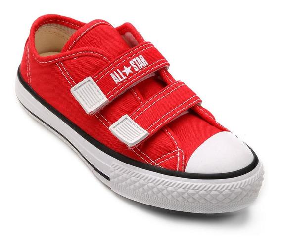 Tenis All Star Converse Infantil Border S/ Cadarço Vermelho Original + Nota Fiscal
