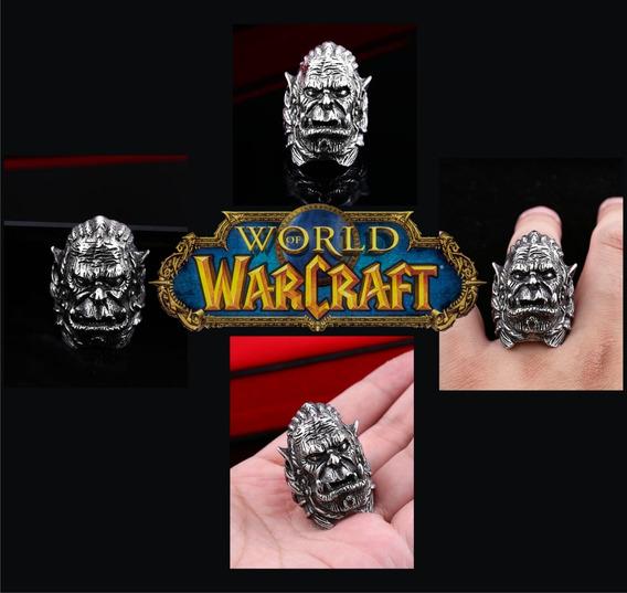 Anel Aço Inox - Masculino - Durotan - Warcraft - Importado