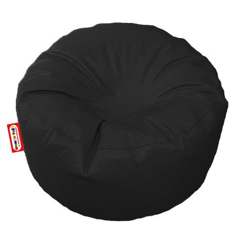Sillon Puff Circular Mediano Negro Soporta Hasta 85kg