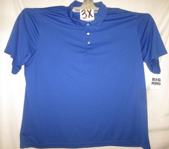 Camiseta Azultipo Polo De Hombre Talla 3x George