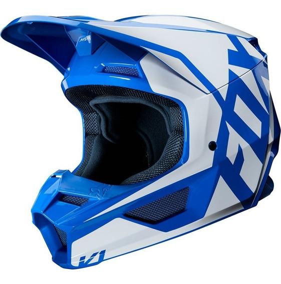 Casco Fox V1 Prix Azul Motocross Enduro Cuatrimoto Motocity