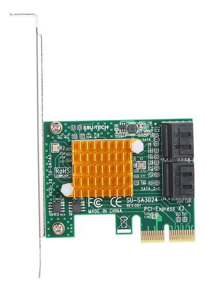 Pci-e X2 Para 4 Portas Sata3 6gbps Cartão Express Placa Ssd