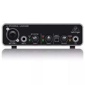 Interfaz Audio Behringer U-phoria Umc22 + Garantía