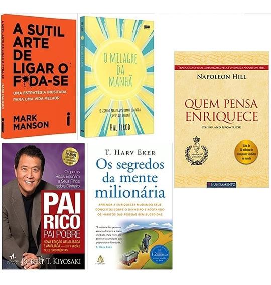 Pai Rico Pai Pobre + Quem Pensa Enriquece + 3 Livros