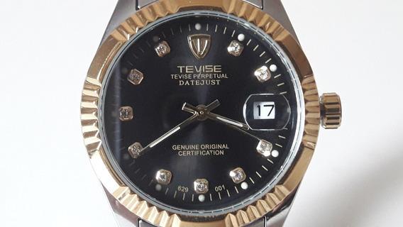 Relógio Tevise Automático Original Pulseira Aço + Caixa
