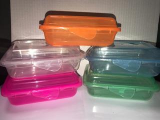 Lunchera Recipiente Plastica Escolar Personalizada