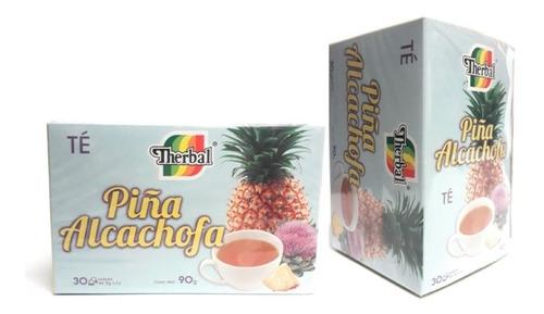 Té Piña Alcachofa Therbal 30 Sobres (2 Pzs) Envio Full
