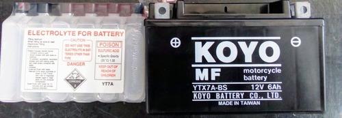 Batería Para Moto Koyo Ytx7a-bs, Todos Los Modelos.