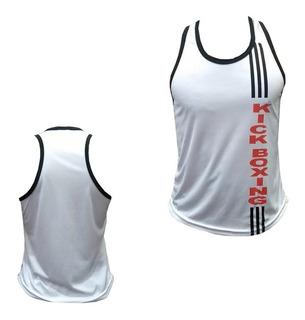 Camiseta Regata - Kickboxing - 3 Stripes - Branca - Feminino