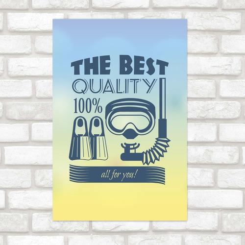 Imagem 1 de 2 de Poster Decorativo Viagem The Best N012168 30x40cm