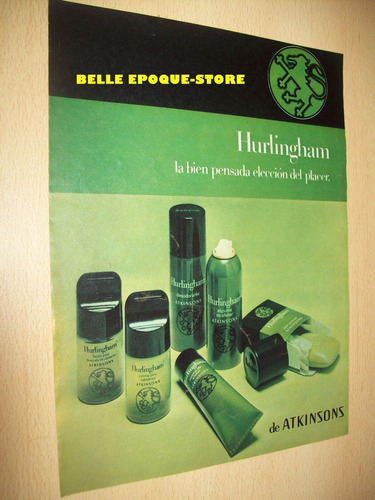 Clipping Antigua Publicidad Perfume Atkinsons Hurlingham Hom