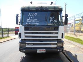 Scania P 340 2007 6x2 Branca Único Dono Itália Caminhões