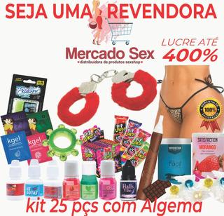 Kit Sexshop Masoquista Produtos Revenda 25 Pçs + Algema