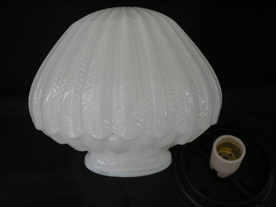 Raridade Antigo Grande Globo Lustre Opalina Anos 60 Plafon