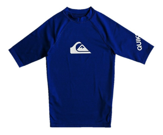 Remera De Lycra Quiksilver De Niño All Time 2201119001 Caz