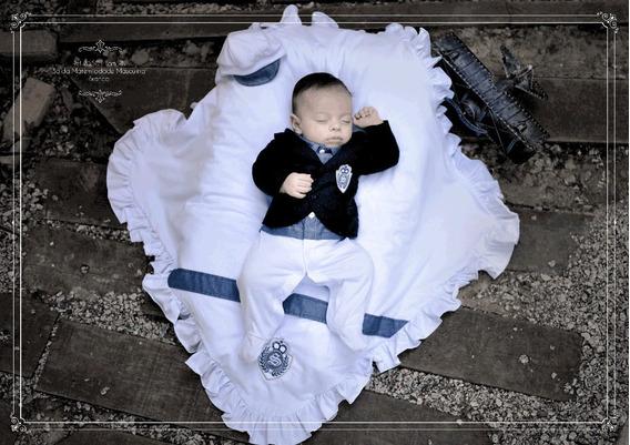 Saída Maternidade Masculina Sonho De Nenê 5 Peças Ref. 3550
