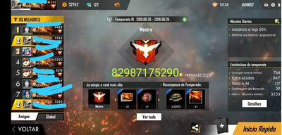 Upo Cont Ate Mestre ! Free Fire