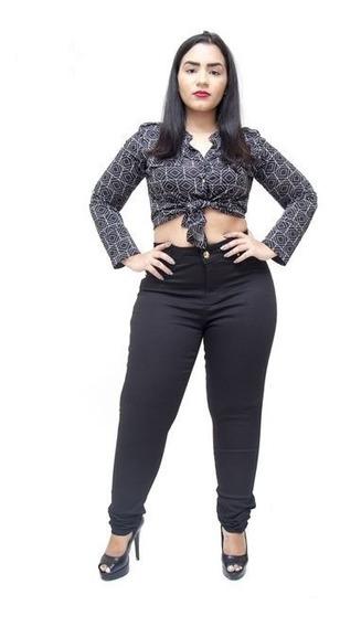 Calça Jeans Feminina Skinny Cintura Alta Com Lycra Premium