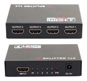 Hub Adaptador Switch Hdmi 4 Entrada 1 Saida 4k Full Hd 3d