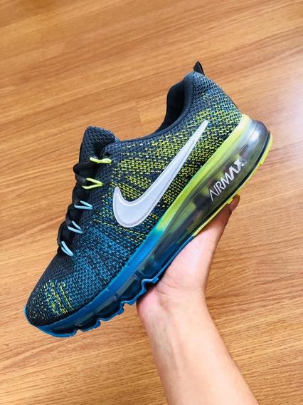 Tênis Nike Air Max Bolha Azul/verde 38 Ao 43