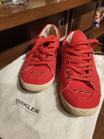 Tênis Osklen Riva Fem Vermelho Pouco Usado Original