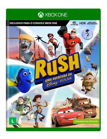 Rush Uma Aventura Da Disney Pixar Xbox One Mídia Física Novo