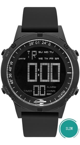 Relógio Mormaii Masculino Slim Mow13901a/8p Negativo Digital