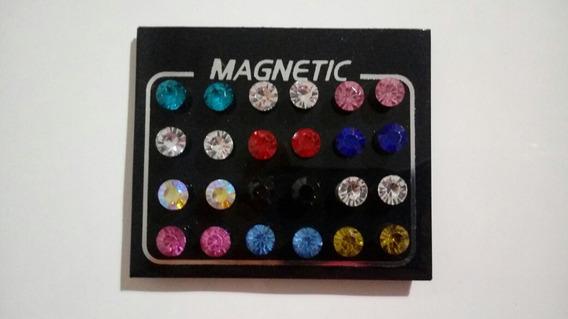 Cartela 12 Pares De Brincos Magnético Imã - Varios Modelos