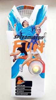 2 Raquetas Badminton Speedmintion + 2 Gallitos + 2 Luces