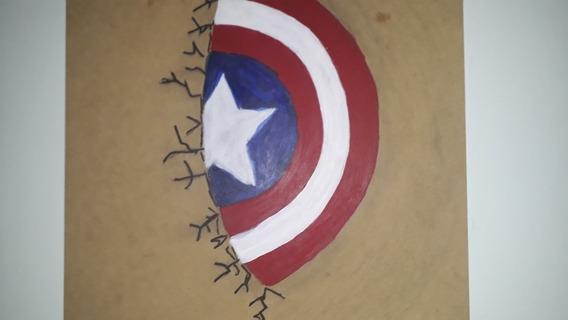 Cuadro De Pared De Capitán America