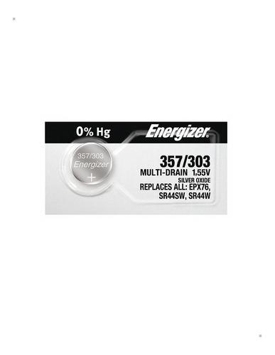 Pila 357/303 Energizer X 20 Baterias