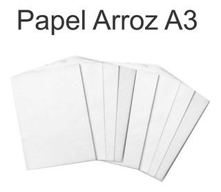 Papel Arroz A3 Branco Pacote Com 100 Unidades