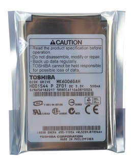 Toshiba 60gb Mk6006gah 50 Pin Disco Duro Para Apple iPod