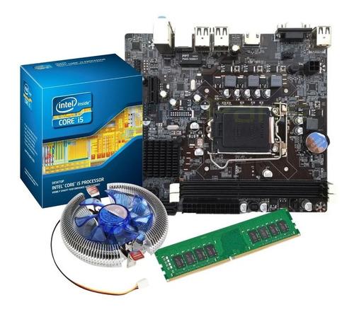 Imagem 1 de 8 de Kit Intel Core I5 2500 3.3 Ghz + Placa H61 1155 + 8 Gb 1600