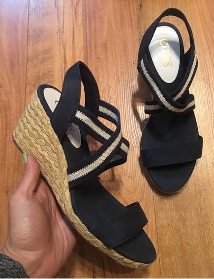 Increíbles Zapatos Sandalias Chaps Bicolor 23 Y Medio Origin