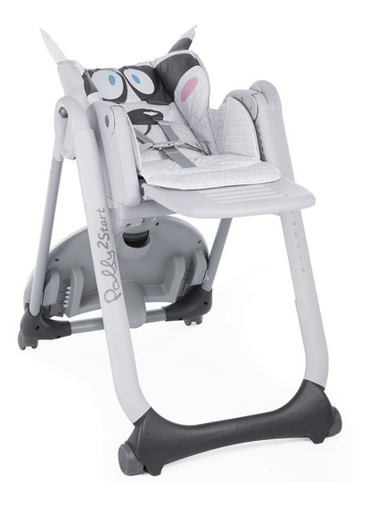 Silla De Comer Bebes Polly2start Reclinable Plegable Ruedas